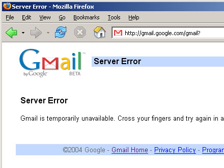Gmail Unavailable