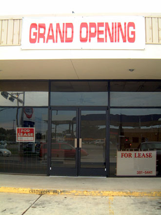 Grand Opening / For Lease